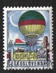 Sellos del Mundo : Europa : Checoslovaquia : Globo ( Blanchard 1785 )