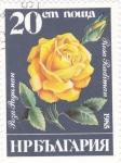 Sellos de Europa - Bulgaria -  flor-rosa amarilla