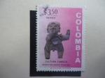 Sellos de America - Colombia -  Cultura Tumaco - Cerámicas pre-colombinas - Museo del Banco Popular.