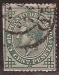 Sellos del Mundo : Europa : España : Alfonso XII. Impuesto de guerra 1876 5 cents