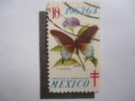 Sellos del Mundo : Europa : Suiza :  Mariposa - P.Philenor - Colección del Dr.Tarsicio Escalante. 1963/64.