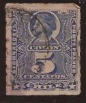 Sellos del Mundo : America : Chile : Cristobal Colon 1883 5 centavos