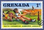 Sellos del Mundo : America : Granada : 6º Jamboree del Caribe en Jamaica 1977