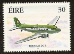 Sellos del Mundo : Europa : Irlanda : Avión de Aer Lingus - Douglas DC 3