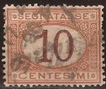 Sellos del Mundo : Europa : Italia : Segnatasse 10 centesimi  1870
