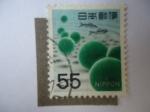 Sellos del Mundo : Asia : Japón :  Nippon . 1956 Plantas deAgua.