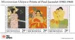 Sellos del Mundo : Oceania : Micronesia : Obras del pintor Paul Jacoulet