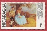 Sellos del Mundo : America : Nicaragua : Pintores famosos Gainsborough