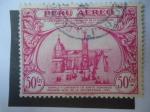 Sellos de America - Perú -  IV Centenario de la Fundación de la Universidad Mayor de San Marcos1551-1951 ´Templo y Convento de b