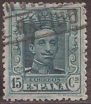 Sellos del Mundo : Europa : España : Alfonso XIII  1922 15 céntimos