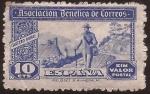 Sellos del Mundo : Europa : España : Asociación Benéfica de Correos. Cartero Rural  1944 10 cents sin valor postal