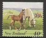 Sellos de Oceania - Nueva Zelanda -  Caballos