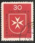 Sellos de Europa - Alemania -  Malteser Hilfsdienst Cruz de Malta