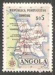 Sellos del Mundo : Africa : Angola : Mapa de Angola