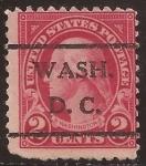 Sellos del Mundo : America : Estados_Unidos :  George Washington 1922  2 centavos perf 11