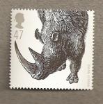 Sellos del Mundo : Europa : Reino_Unido : Animales prehistoricos