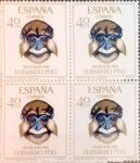 Sellos de Europa - España -  Intercambio 1,20 usd 4 x 40 cents. 1966