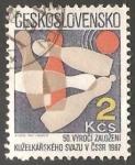 Sellos del Mundo : Europa : Checoslovaquia : Bowling Union, 50th Anniv. bolos