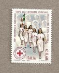 Sellos del Mundo : Europa : Italia : 100 Aniv de las enfermeras voluntarias italianas de la Cruz roja