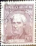 Sellos de America - Argentina -  Intercambio 0,20 usd  20 cents. 1956