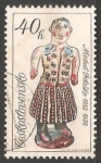Sellos de Europa - Checoslovaquia -  Mujer en traje regional - Michal Potasko