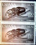 Sellos de Europa - España -  Intercambio m2b 0,50 usd 2 x 1,50 ptas. 1965