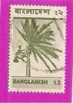Sellos del Mundo : Asia : Bangladesh : palmera