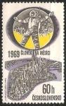 Sellos del Mundo : Europa : Checoslovaquia : Apollo 11 - El hombre en la luna