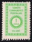 Sellos de Asia - Turquía -  Cifras