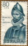 Sellos del Mundo : Europa : España : Francisco de Orellana - Forjadores de America