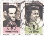 Sellos de America - México -  Gonzalo Curiel y Lola Beltrán-ídolos populares de la radio