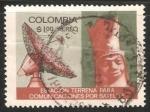 Sellos del Mundo : America : Colombia : Estacion terrena para comunicaciones por satelite