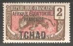 Sellos del Mundo : Africa : Chad :  Leopard (Panthera pardus)
