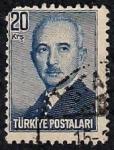 Sellos de Asia - Turquía -  Presidente, Ismet Inönü