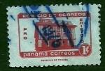 Sellos de America - Panamá -  Palacio de correos