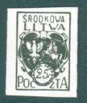 Sellos del Mundo : Europa : Lituania : El Escudo de Armas de Lituania Central