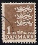 Sellos del Mundo : Europa : Dinamarca : Leones del escudo de Dinamarca