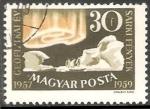 Sellos de Europa - Hungría -  Iceberg, pinguino y luz polar