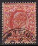 Sellos del Mundo : Europa : Reino_Unido : Gran Bretaña 1911 Scott 147 Sello Rey Eduardo VII usado Great Britain