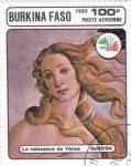 Sellos de Africa - Burkina Faso -  EL NACIMIENTO DE VENUS