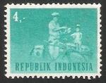 Sellos del Mundo : Asia : Indonesia : Cartero en bicicleta