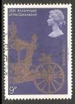 Sellos de Europa - Reino Unido -  25 aniversario de la coronacion