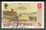 Sellos del Mundo : Europa : Isla_de_Man : Castillo