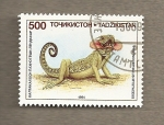 Sellos del Mundo : Asia : Tayikistán : Camaleón