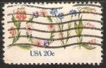 Sellos de America - Estados Unidos -   flores