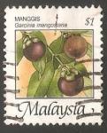 Sellos del Mundo : Asia : Malasia : Garcinia mangostana