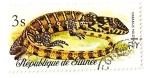 Sellos del Mundo : Africa : Guinea : Reptiles y serpientes. Lagarto monitor.