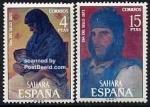 Sellos del Mundo : Europa : España : Sahara Edifil 308 y 309