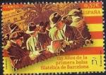 Sellos del Mundo : Europa : España : 5050 - Efemérides. 125 años de la primera bolsa filatélica de Barcelona.