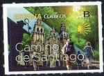 Sellos del Mundo : Europa : España : 5056 - Camino de Santiago.Imagen de la fachada de la Catedral.